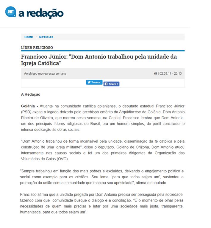 A redação - 2 de março - Dom Antônio