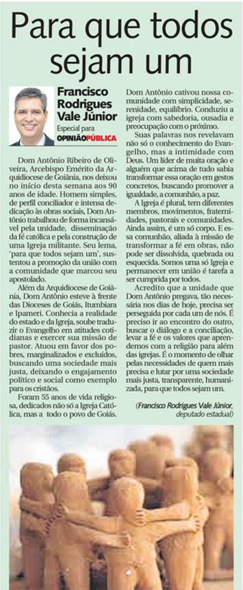 DM - 2 de março - Dom Antônio