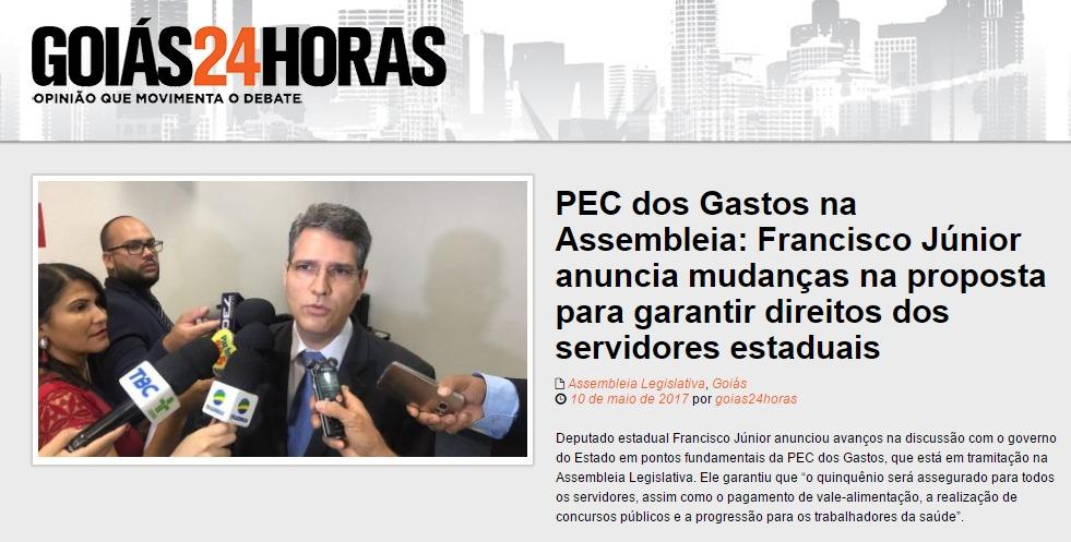 Goiás 24 hs - 11 de maio - PEC dos Gastos