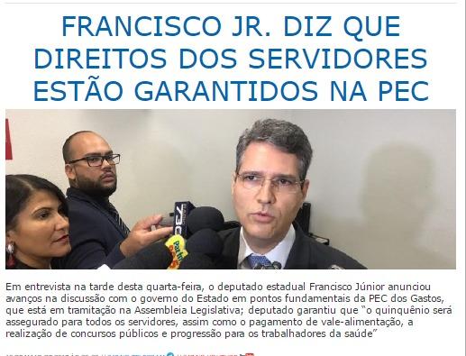 Goiás real - 11 de maio - PEC dos Gastos
