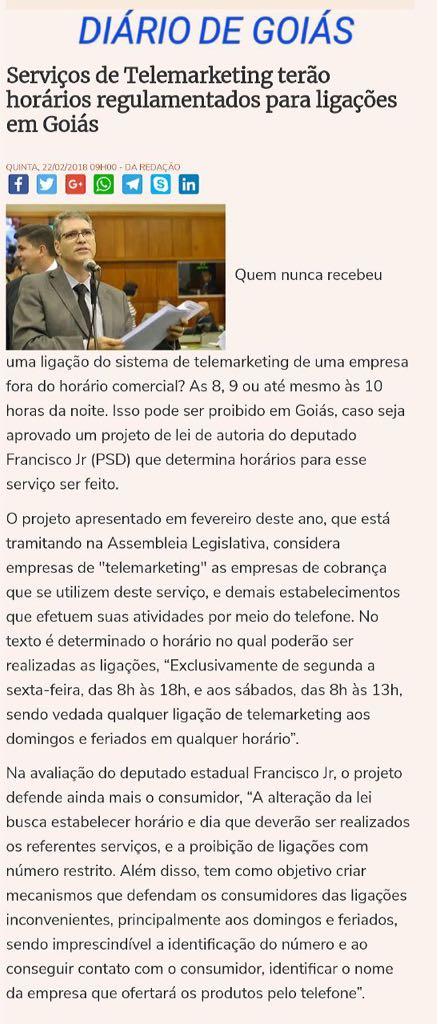 Diário de Goiás - Telemarketing